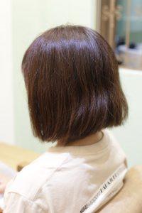 髪質改善ストレートをかける前の髪