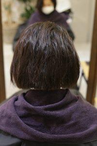 縮毛矯正ストレートをかける前1