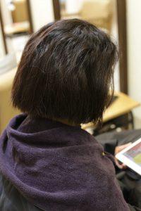 縮毛矯正ストレートをかける前2