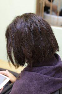 髪質改善ストレート&カラーエステをする前の状態ー髪質改善専門店オーファ