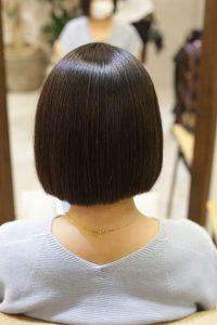 髪質改善ストレート(縮毛矯正)&カラーエステトリートメントで改善後の髪の状態ー髪質改善専門店オーファ