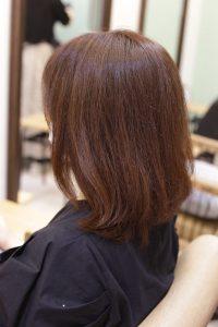 髪質改善ストレート(縮毛矯正)エステ+カラーの施術前の状態