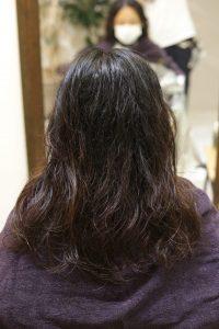 髪質改善ストレートエステ(縮毛矯正)をかける前
