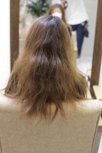 縮毛矯正をかける前