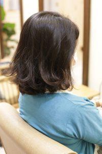 髪質改善ストレートエステ(縮毛矯正)+カットをする前の状態