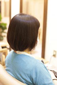 髪質改善ストレートエステ(縮毛矯正)+カットをした後のヘアスタイル