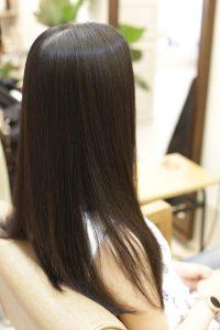 髪質改善ストレートエステをした後ー縮毛矯正・ストレートパーマー金町の美容院オーファ