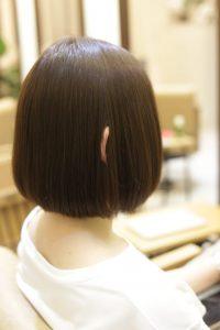 髪質改善ストレート&カラーエステでツヤ髪になったヘアスタイルー髪質改善専門店オーファ