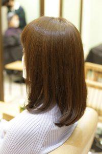 髪質改善カラーエステをしたミディアムヘア|金町の髪質改善専門店オーファ