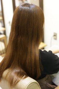 髪質改善カラーエステを施術する前の状態