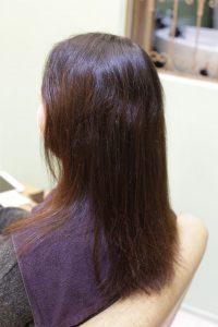 髪質改善ストレート&カラーエステを施術する前の状態
