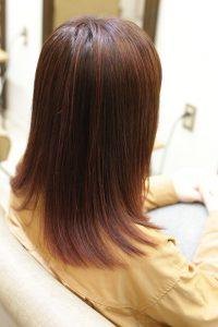 髪質改善カラーエステで施術した後の状態|金町の髪質改善専門店オーファ