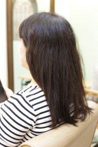 髪質改善ストレート(縮毛矯正)&カラーエステを施術する前の状態