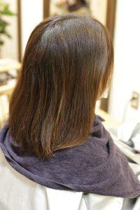 髪質改善ストレート(縮毛矯正)&カラーをする前の状態