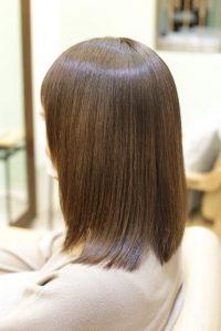 髪質改善カラーエステ(白髪染め対応)&縮毛矯正の施術後の状態|亀有・松戸・金町の髪質改善専門店オーファ