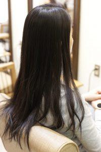 髪質改善トリートメントエステを施術する前の状態ー髪質改善専門店オーファ
