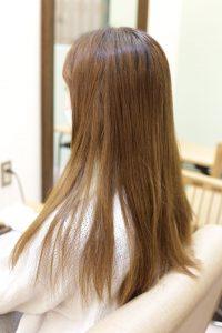 髪質改善トリートメントエステをする前の状態