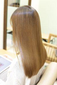 髪質改善トリートメントエステを施術した後の状態
