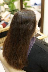 髪質改善ストレートエステを施術する前の状態ー髪質改善専門店オーファ