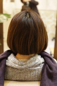 髪質改善ストレートエステ(縮毛矯正)をかける前の状態|金町の髪質改善専門店オーファ
