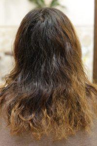 髪質改善ストレートエステを施術する前の状態|葛飾区金町の髪質改善専門店オーファ