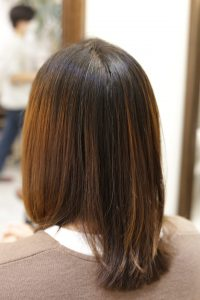 髪質改善ストレートエステを施術した後の状態|葛飾区金町の髪質改善専門店オーファ