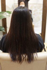 髪質改善ストレートエステ(縮毛矯正)を施術する前の状態