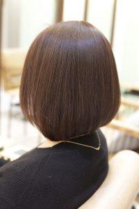 髪質改善ストレートエステを施術した後の状態