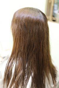 髪質改善ストレート&カラーエステの施術前の状態