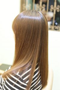 髪質改善ストレート&カラーエステの施術したあとの状態 亀有・綾瀬・金町の髪質改善専門店オーファ