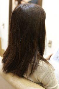 髪質改善カラーエステ(白髪染め対応)&縮毛矯正+カットの施術前の状態|亀有・松戸・金町で人気の髪質改善専門店オーファ