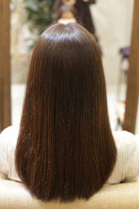 髪質改善カラーエステ(白髪染め対応)&縮毛矯正+カットの施術後の状態|亀有・松戸・金町で人気の髪質改善専門店オーファ
