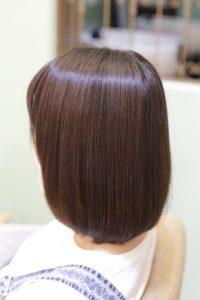 白髪染め対応の髪質改善カラーエステの施術後の状態|亀有・松戸・金町の髪質改善専門店オーファ
