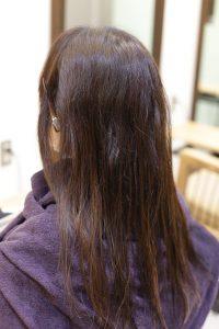 髪質改善縮毛矯正をかける前の状態|亀有・松戸・綾瀬・金町の髪質改善専門店オーファ