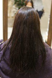 髪質改善ストレート(縮毛矯正)の施術前の状態 亀有・松戸・綾瀬・金町の髪質改善専門店オーファ