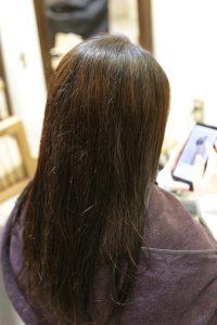 髪質改善ストレート(縮毛矯正)の施術前の状態|亀有・松戸・綾瀬・金町の髪質改善専門店オーファ