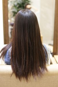 髪質改善ストレート(縮毛矯正)&カラーエステをする前の状態|亀有・松戸・綾瀬・金町の髪質改善専門店オーファ