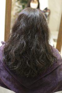 髪質改善(縮毛矯正)ストレートをかける前の状態 亀有・松戸・綾瀬・金町の髪質改善専門店オーファ