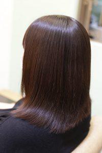 髪質改善ストレートエステ(縮毛矯正)をかけた後の状態|亀有・松戸・金町の髪質改善専門店オーファ