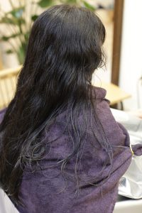 髪質改善ストレートエステ(縮毛矯正)を施術する前の状態|亀有・金町・松戸の髪質改善専門店オーファ