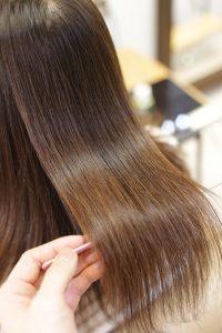 縮毛矯正=髪質改善ストレートをかけた後の状態 亀有・金町・松戸の髪質改善専門店オーファ