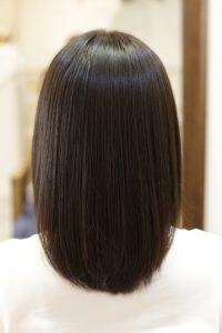 髪質改善ストレートエステ(縮毛矯正)をした後の状態|松戸・金町・亀有の髪質改善専門店オーファ