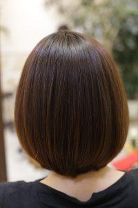 髪質改善ストレートエステ(縮毛矯正)をかけた後の状態 松戸・金町・亀有の髪質改善専門店オーファ