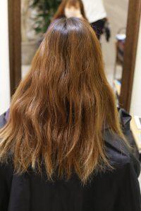髪質改善ストレートエステ(縮毛矯正)+カラーをする前の状態 松戸・金町・亀有の髪質改善専門店オーファ