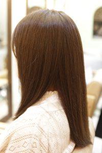 髪質改善ストレートエステ+カット+高濃度炭酸泉の施術した後の状態|松戸・金町・亀有の髪質改善専門店オーファ