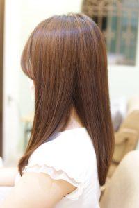 髪質改善カラーエステ(白髪染め対応)を施術した後の状態 松戸・金町・亀有の髪質改善専門店オーファ