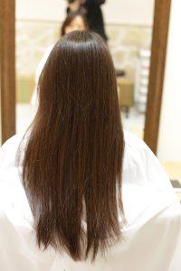 髪質改善カラーエステbeforeー金町の美容院オーファ