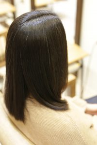 髪質改善ストレート(縮毛矯正)エステでキレイになった髪ー金町の髪質改善専門店オーファ