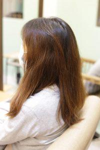 髪質改善ストレート&カラーエステをする前の髪