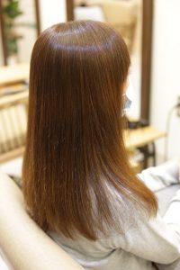 髪質改善ストレート&カラーエステをしてキレイになった髪ー髪質改善専門店オーファ